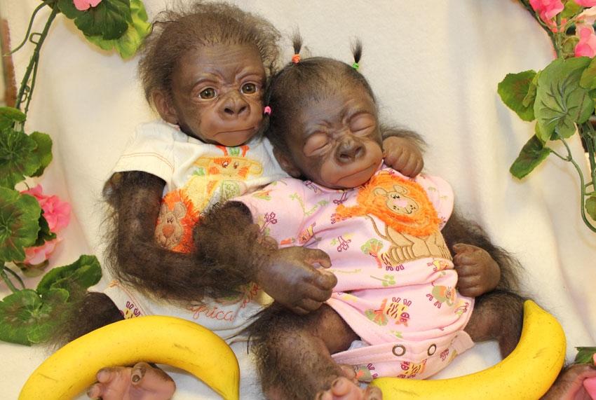 309105 Dollkit 18 Quot Gorilla Kiwi 1 1 3 4 Ledenmaten
